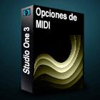 Studio One Opciones de MIDI