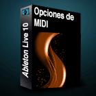 Ableton 10 Opciones de MIDI