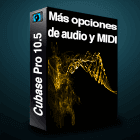 Cubase 10 mas opciones de midi y de audio