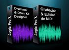 Pack Logic Pro X Grabación y edición MIDI + Drummer y Drum Kit Designer